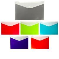Папка-конверт А4 Sahand (240*330см) 150мкм, на кнопке, карман для ручки, допол. внешний карман, в ассортименте