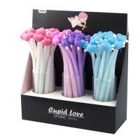 """Ручка шарик. Alingar """"Cupid Love"""" 0,7мм, синяя, цветной корпус soft корпус"""