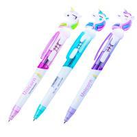"""Ручка шарик. автом. Alingar """"Единорог"""" синяя, 0,7 мм., светящийся, цветной корпус"""
