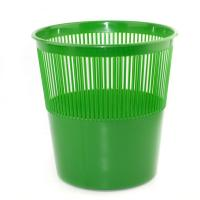 Корзина для бумаг Alingar, 12л, круглая, сетчатая, зеленая
