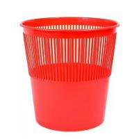 Корзина для бумаг Alingar, 12л, круглая, сетчатая, красная