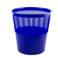 Корзина для бумаг Alingar, 12л, круглая, сетчатая, синяя
