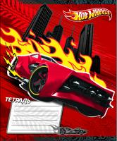 "Тетрадь А5, 12л., EC ""Mattel Hot Wheels"" линия, лак красная"